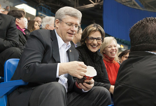1/1 @TimHortons #RollUpTheRim | by PM Stephen Harper