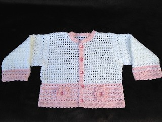 Baby Girl Crocheted Sweater | by Heavenly Babies