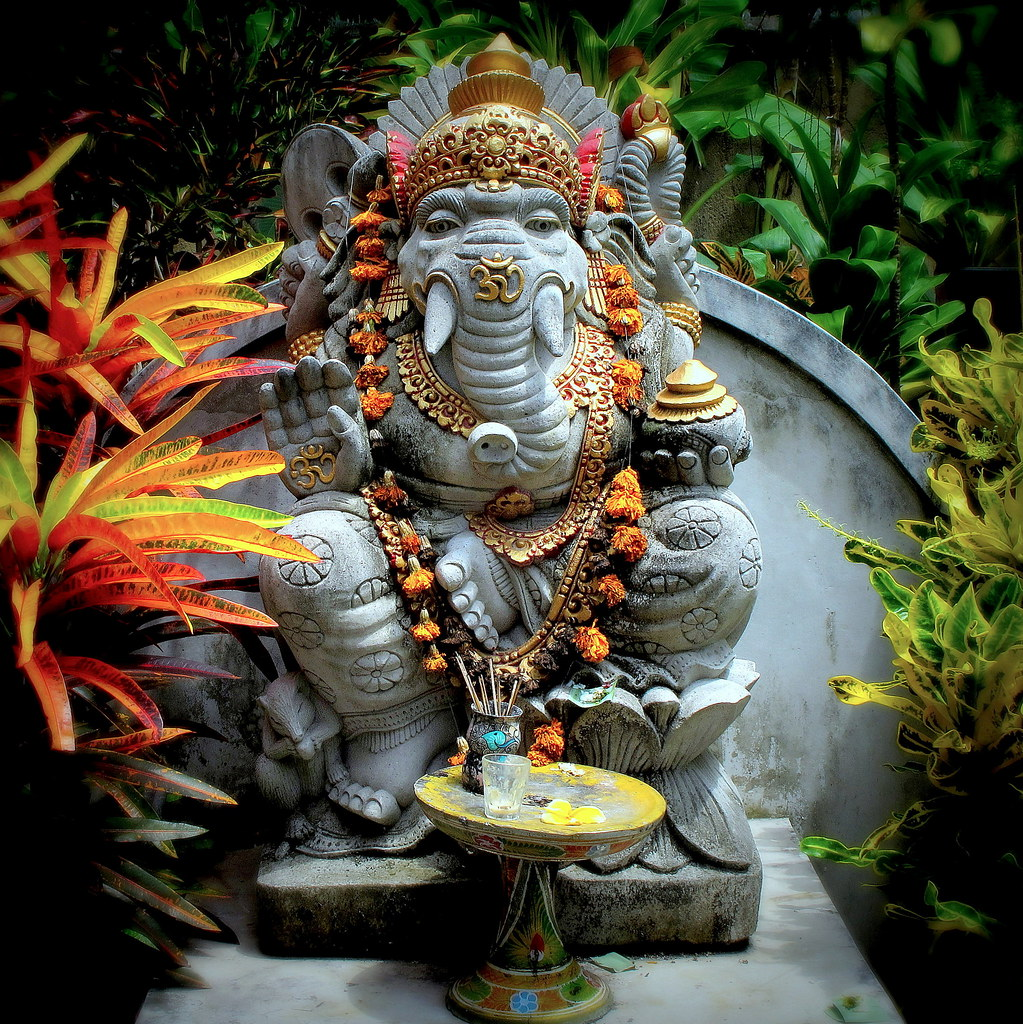 Ganesh Statue In The Courtyard …