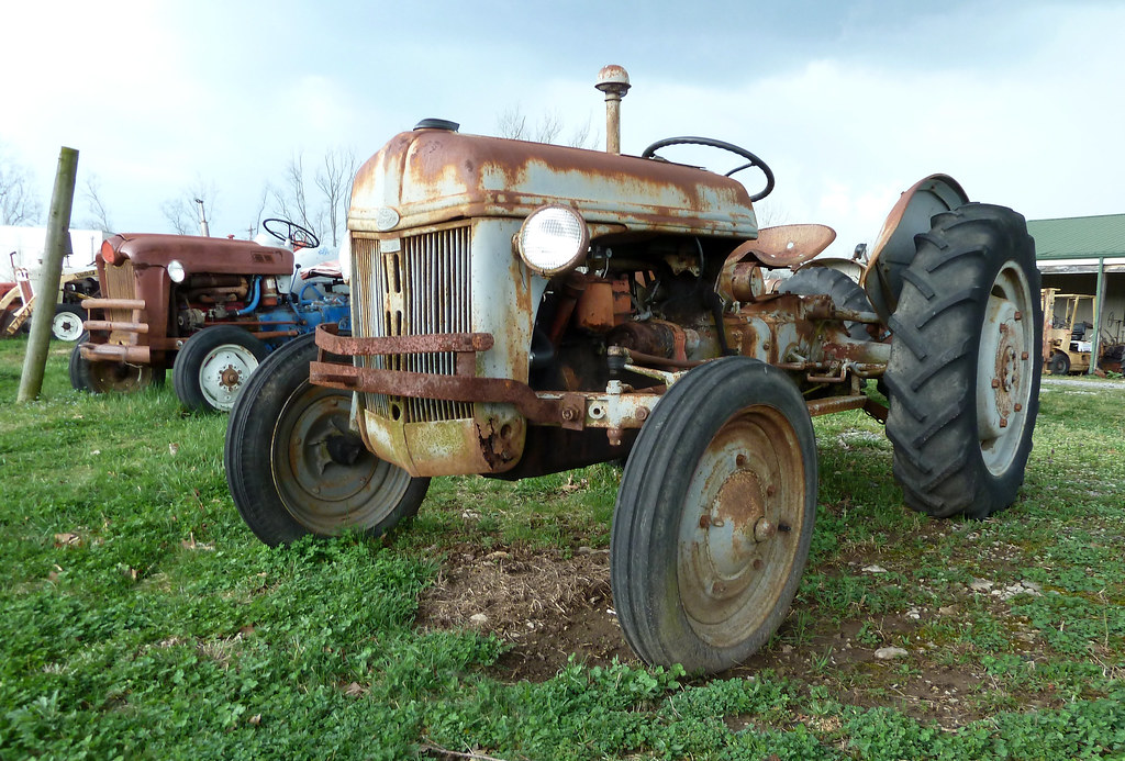 Old Ford Tractor Decals : Rusty old ford n tractor antique parts vevay