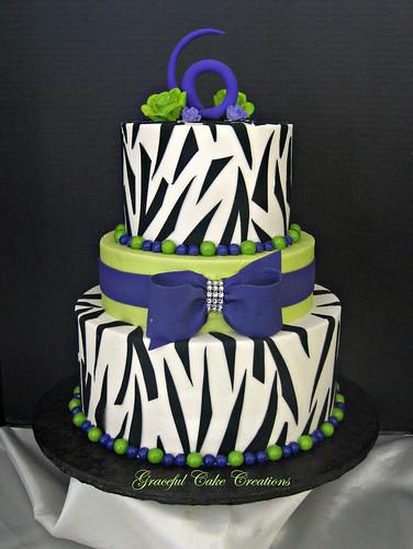 Zebra Birthday Cake Pictures