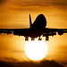 747 on top of the Sun