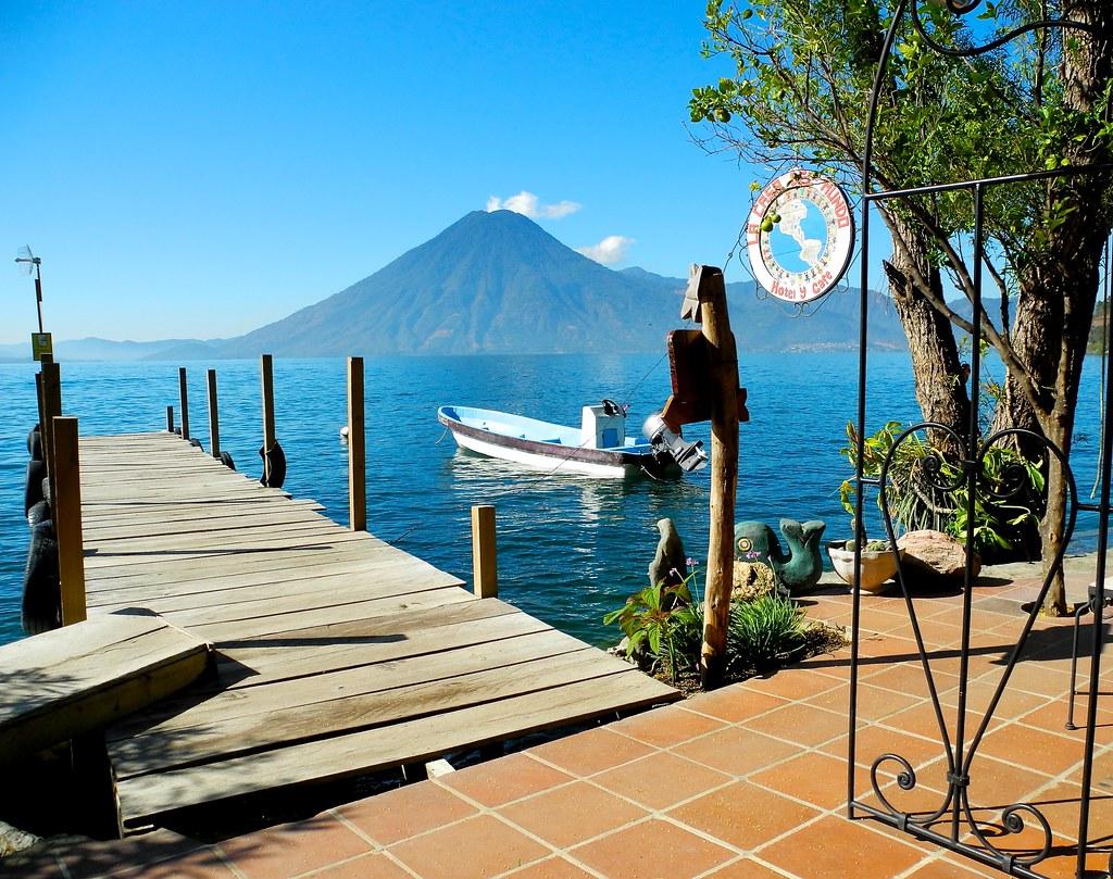 Entrance to la casa del mundo jaibalito guatemala on lago flickr - Casa del mundo ...