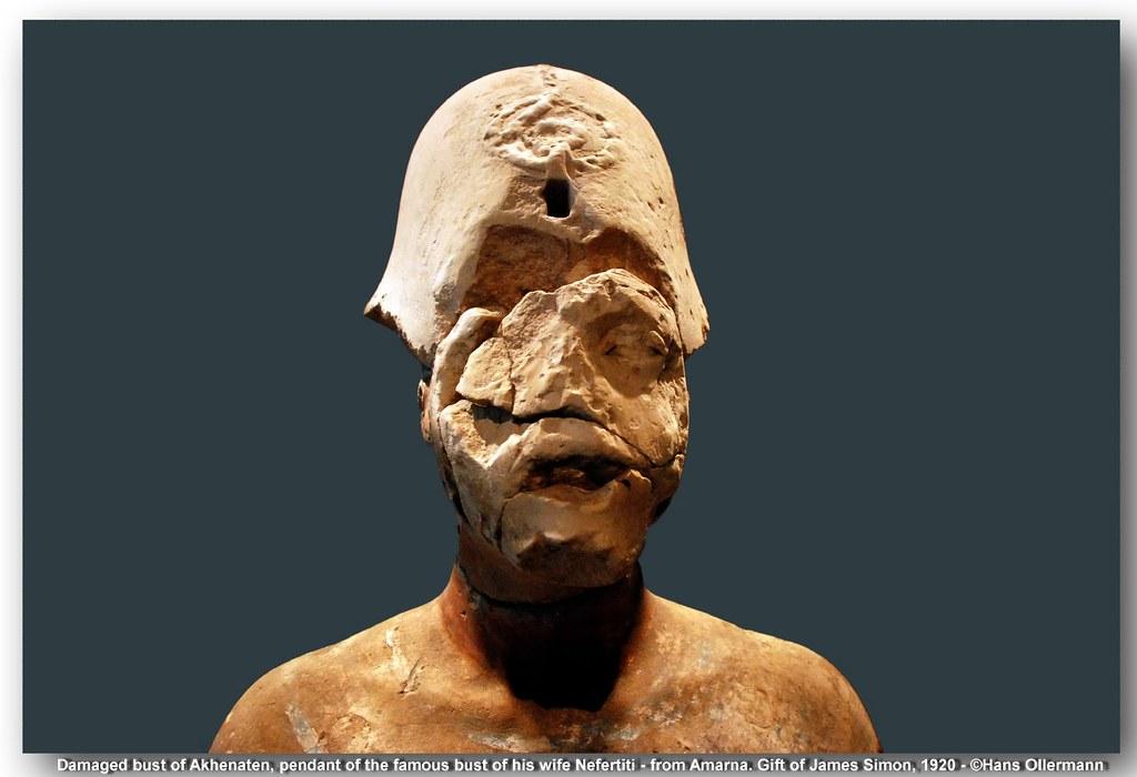 10 Damaged Bust Of King Akhenaten Pendant Of The Famous