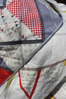 Bunting Flag Wedding Quilt | by DanaK~WaterPenny