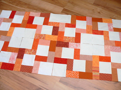 Crossroads Blocks in Orange | by Deb@asimplelifequilts