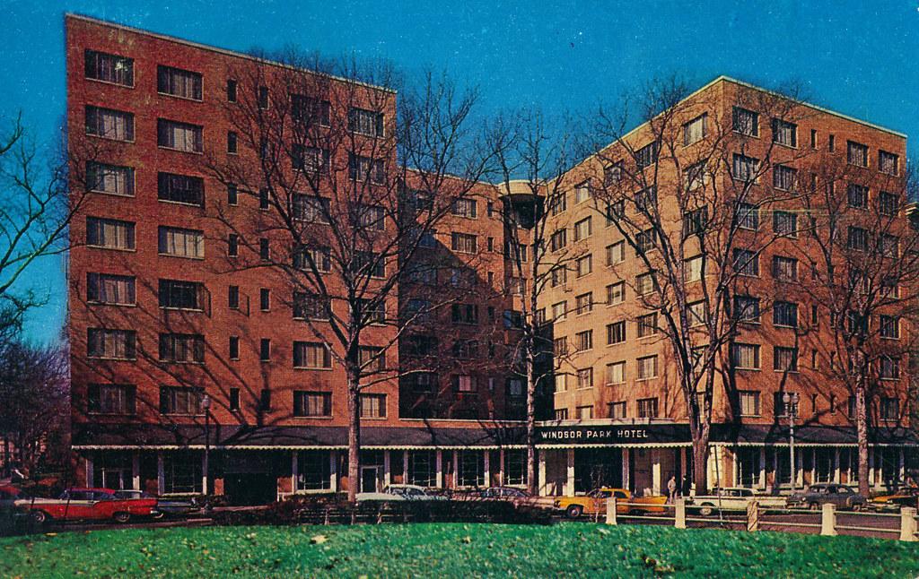windsor park hotel c 1963 postcard of the windsor. Black Bedroom Furniture Sets. Home Design Ideas