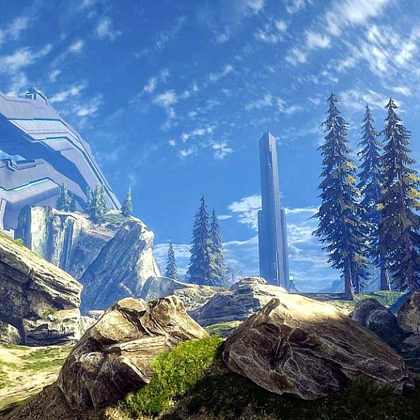 halo #halo4 #ragnarok #nature #multiplayer #sky #rocks #t
