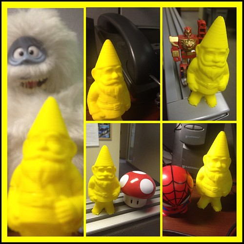 3D-printed gnome goes on an adventure. Oh, the sights! The sounds! The snowman! | by Anthony Brennan on Flickr
