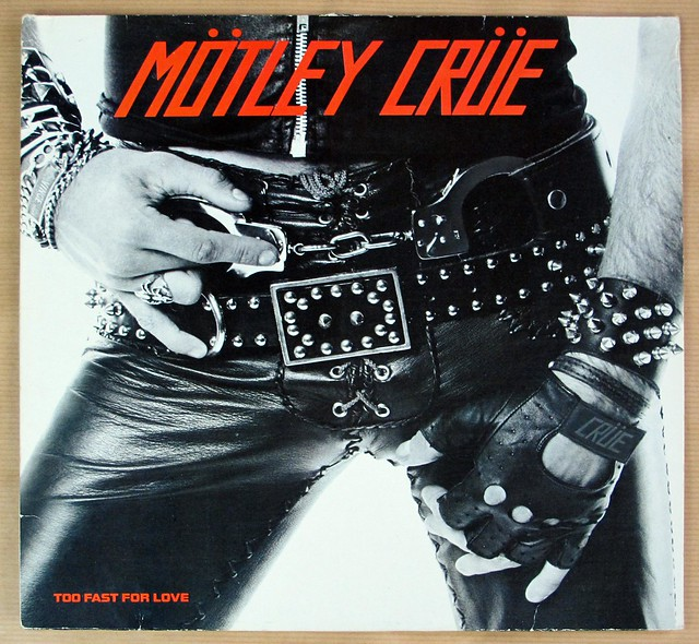 "Mötley Crüe Too Fast For Love Germany No Album Title 12"" LP VINYL"