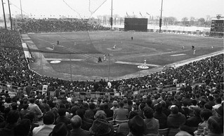 Baseball game and crowd at Jarry Park, April 8, 1970 | by SHPEHS