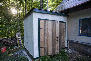 Cistern Shed with Final Coat of Plaster | by goingslowly