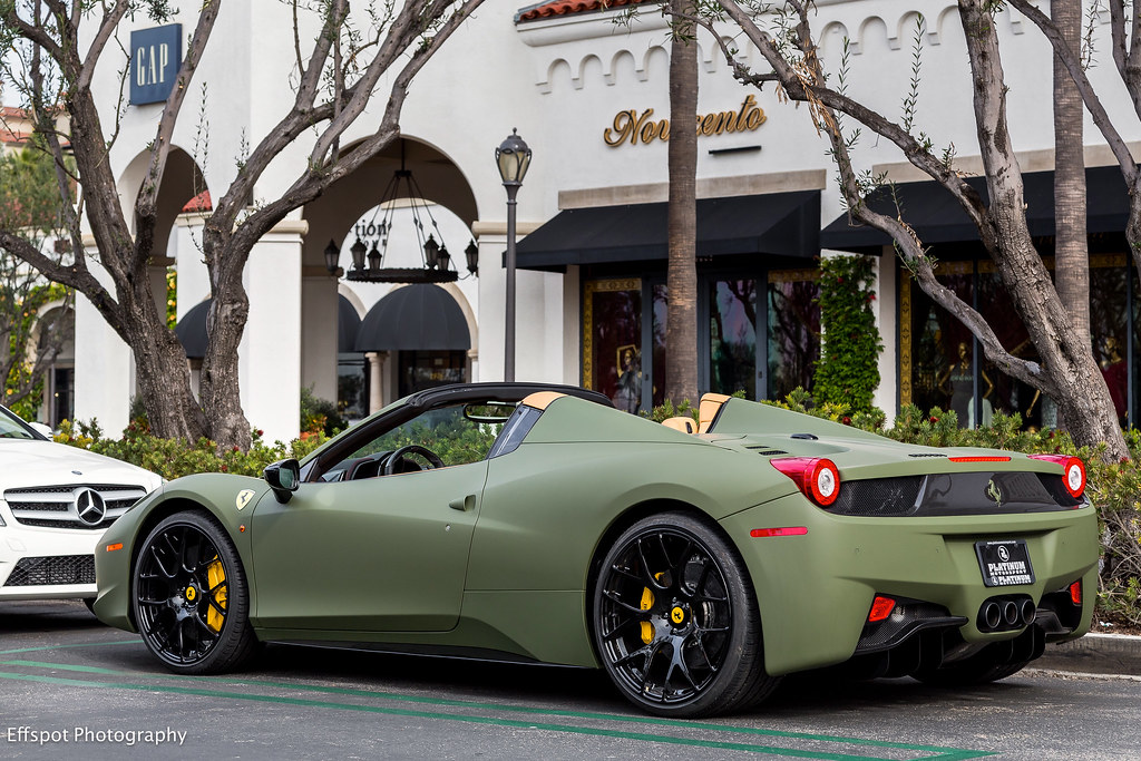Crazy 458 Matte Mliitary Green Painted 458 Not A Wrap Flickr