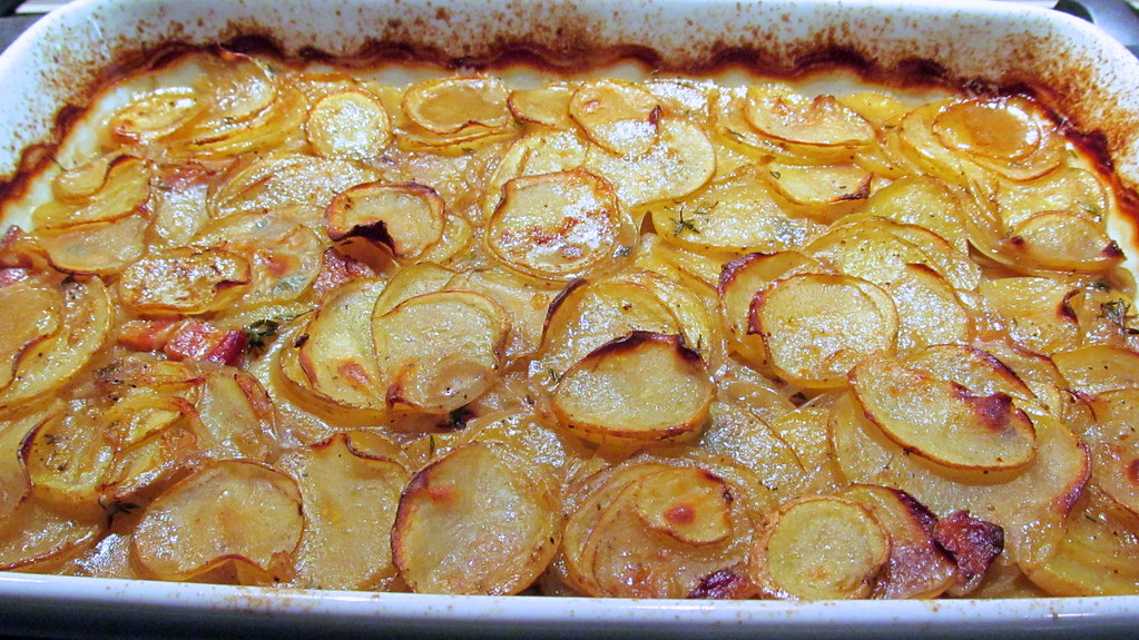 pommes de terre boulang re french potato casserole with ba flickr. Black Bedroom Furniture Sets. Home Design Ideas