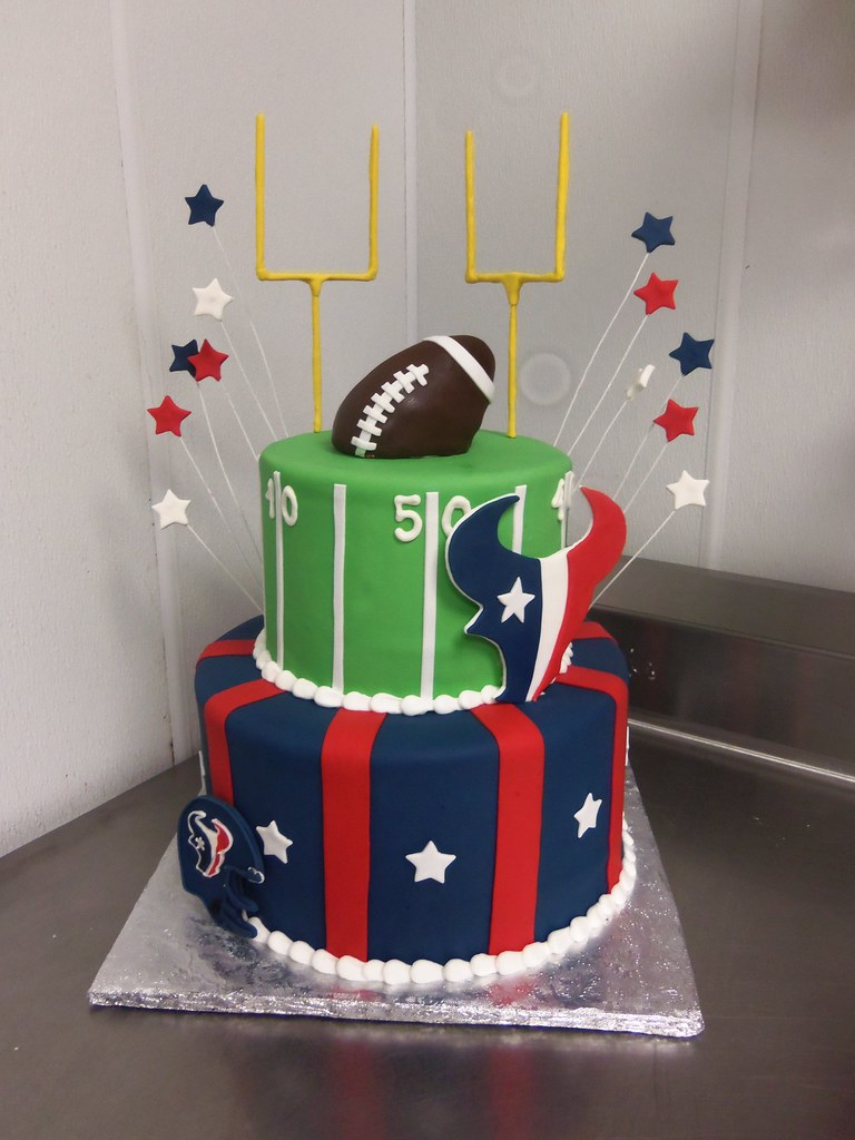 Texans Football Cake 12 8 Fondant Cakes With Fondant D Flickr