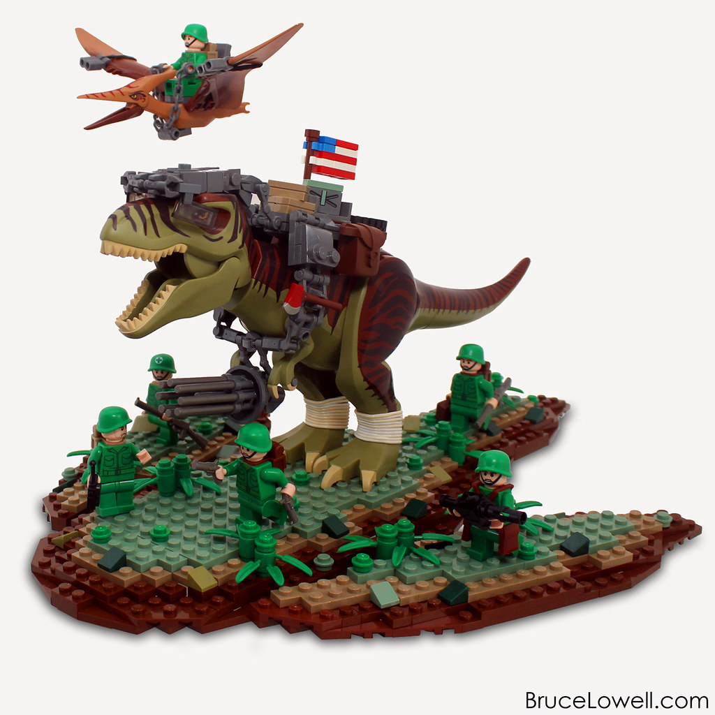 373rd reptilian infantry squad the men and lizards of th flickr - Dinosaure lego ...