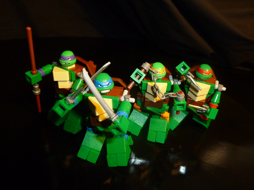 boyzwiththemosttoyz teenage mutant ninja turtles lego midifigs by boyzwiththemosttoyz - Lego Ninja Turtles Coloring Pages
