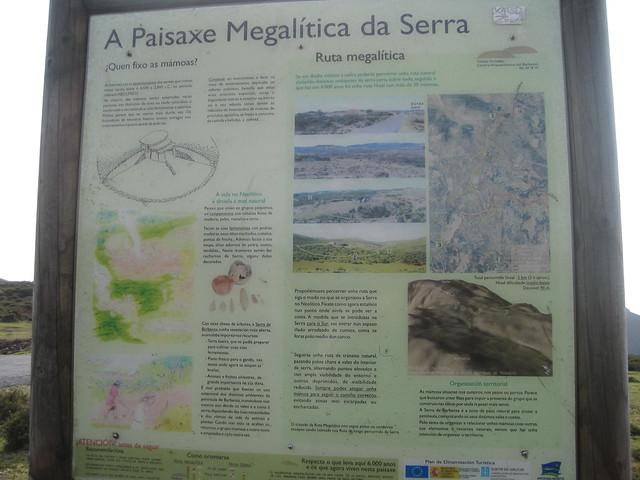 Panel Informativo en la Ruta Megalítica por la Sierra del Barbanza