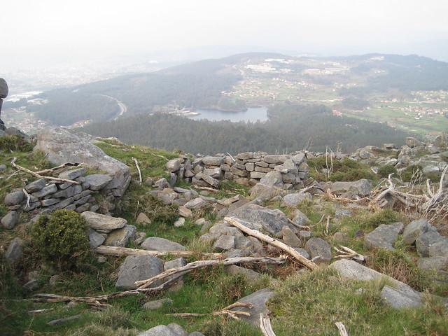 Ruinas en el Galiñeiro en Vigo