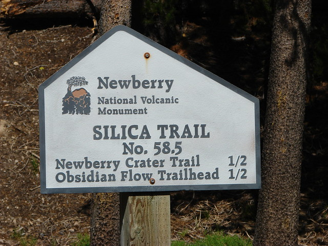 Trial sign for the Silica Trail
