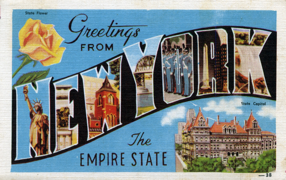 Greetings from new york the empire state large letter p flickr greetings from new york the empire state large letter postcard by shook photos m4hsunfo