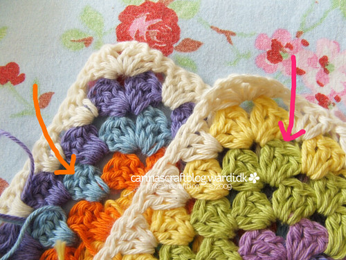 Crochet tutorial: joining granny squares 4 | by Carina » Polka & Bloom
