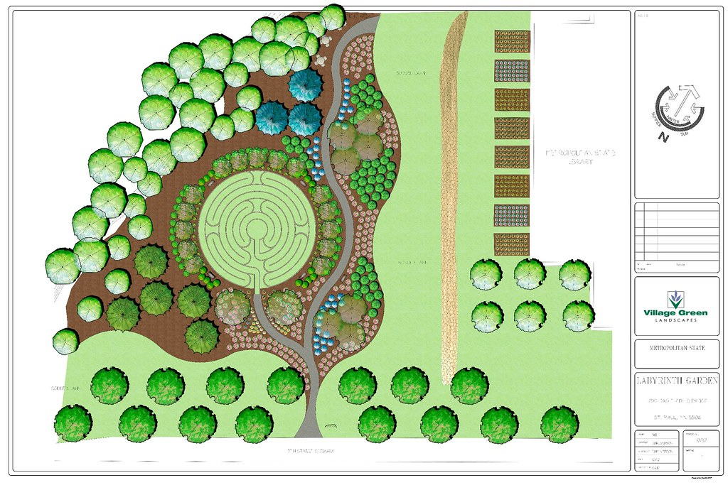... David Barton Community Labyrinth And Reflective Garden Design Plan | By  Library, Metropolitan State University