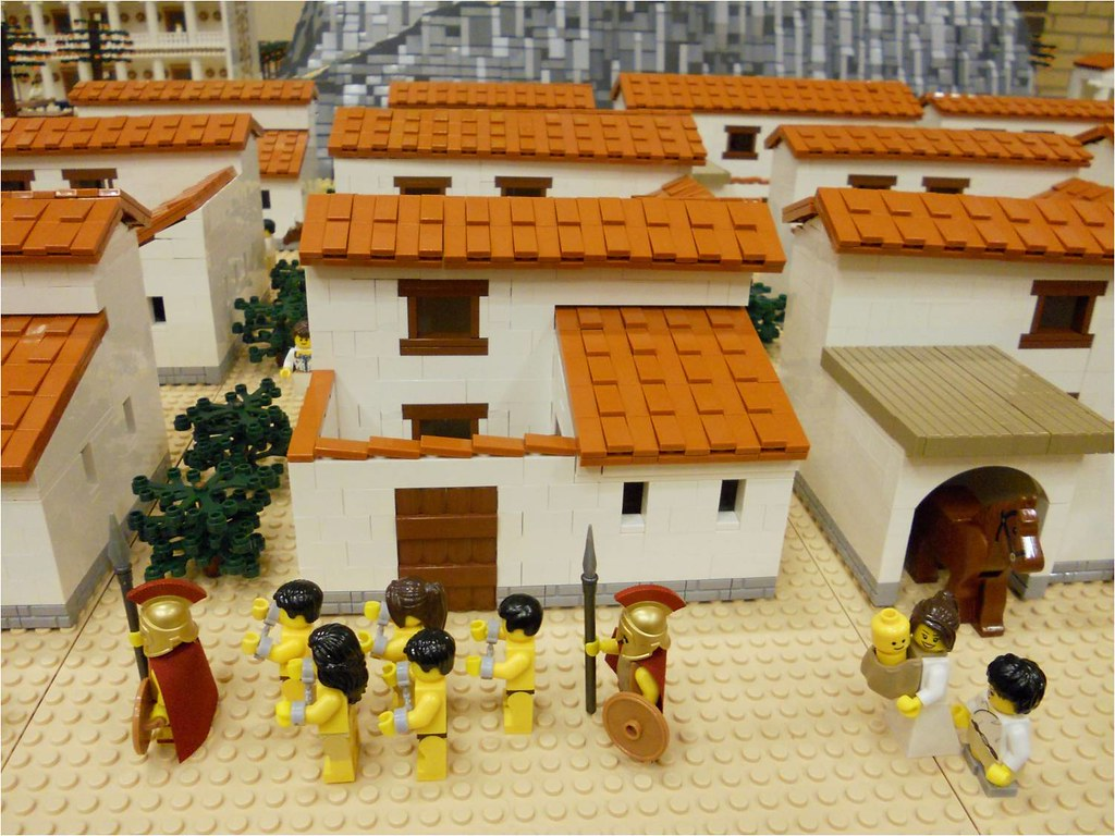 LEGO Ancient Greek Houses Part of Ancient Greek LEGO layou Flickr
