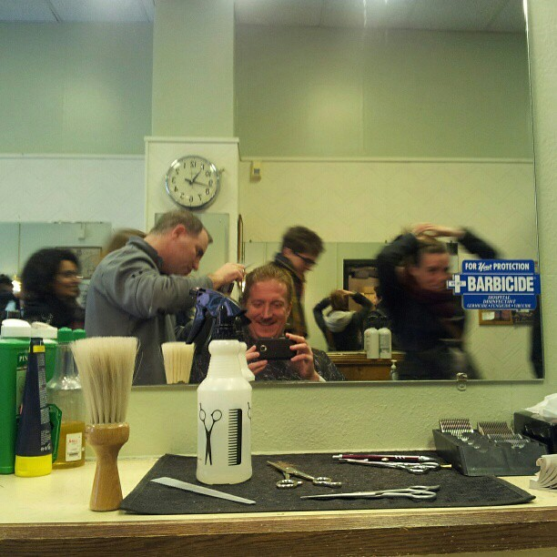 Barber Shop Kendall : ... excited about visiting a real American barber shop (@ Kendall Barbers
