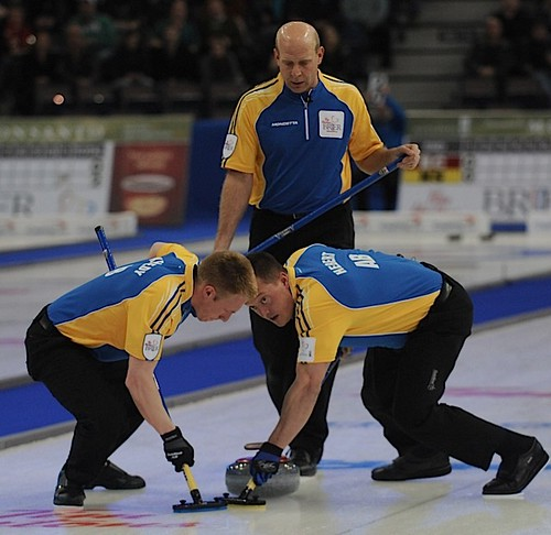 Edmonton Ab.Mar7,2013.Tim Hortons Brier.Alberta skip Kevin Martin,lead Ben Hebert,second Marc Kennedy.CCA/michael burns photo | by seasonofchampions