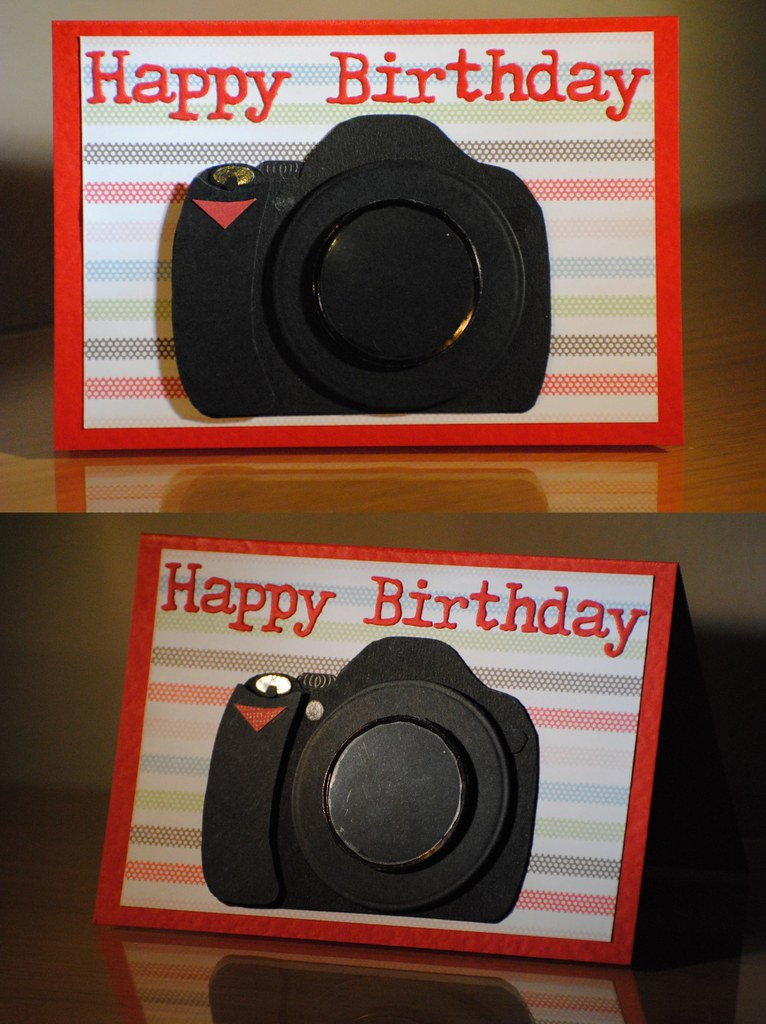camera birthday card  birthday card for my brother based