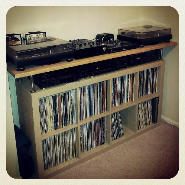 day 68 todays project ikea expedit vinyl 365 365pr flickr. Black Bedroom Furniture Sets. Home Design Ideas