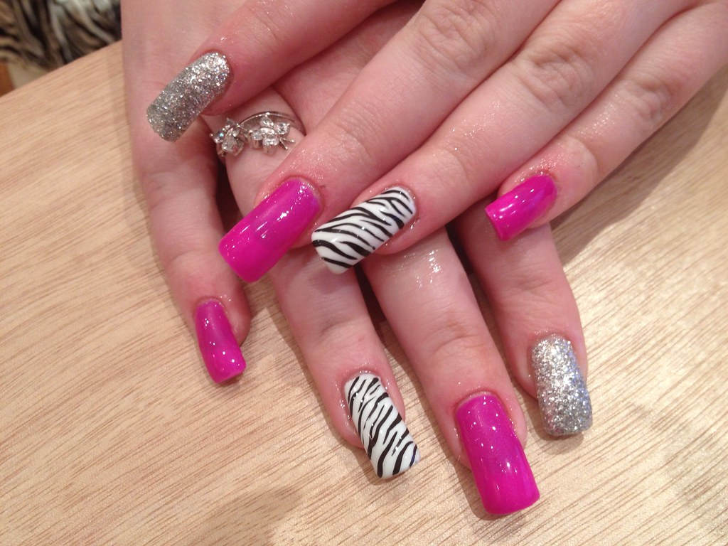 Zebra Print Nail Design Tutorial