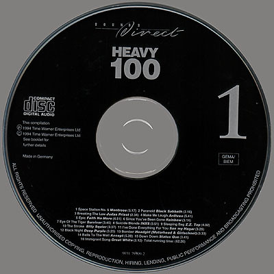 Heavy 100 - Volume 1 - Disk 1