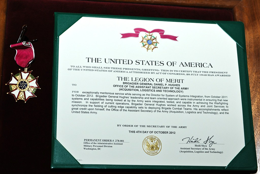 Brig Gen Hughes Receives Legion Of Merit Award
