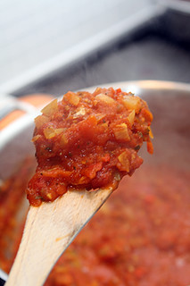 tomato sauce for shakshuka | by David Lebovitz