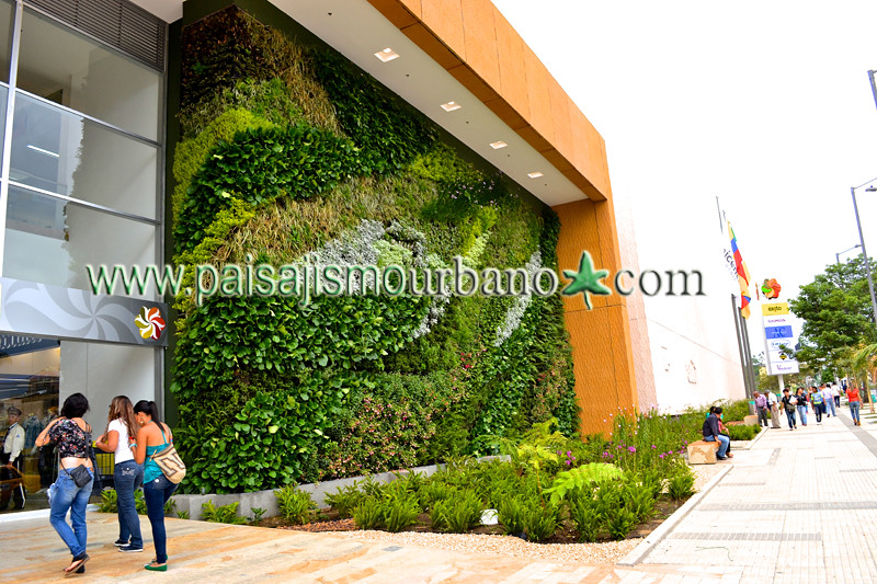 Jardin vertical ignacio solano paisajismo urbano armenia for Jardin vertical artificial