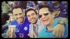 Hanging out at Estadio Azul