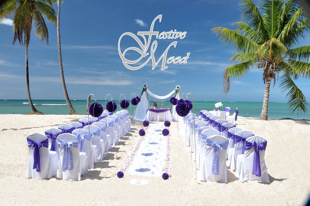 Beach Wedding Lilac