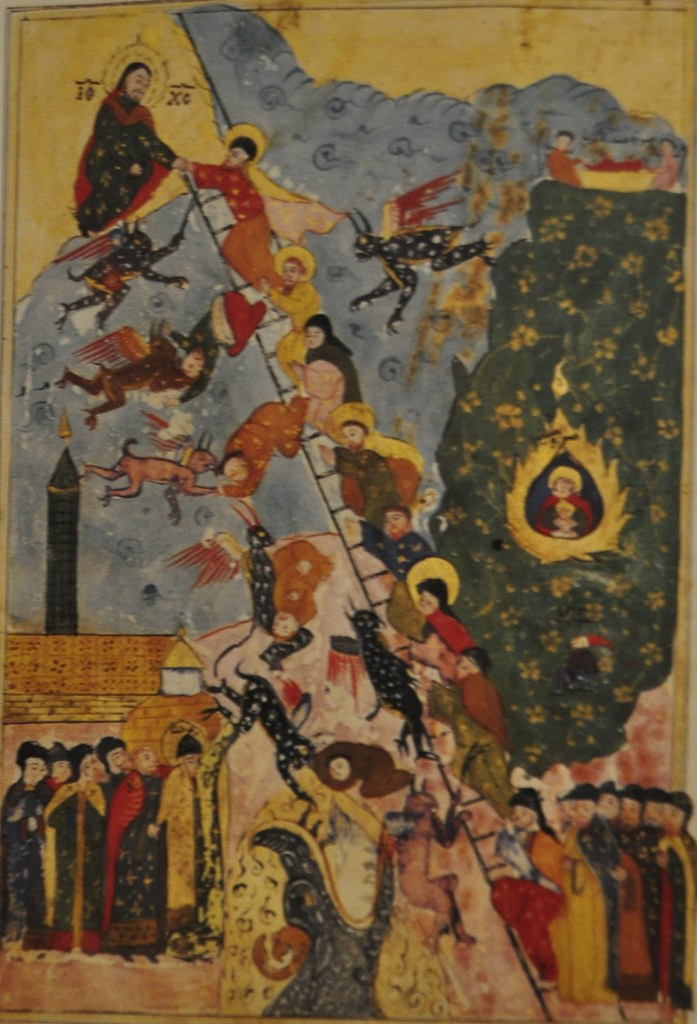 Icon Ladder Of Divine Ascent St John Climacus 17th