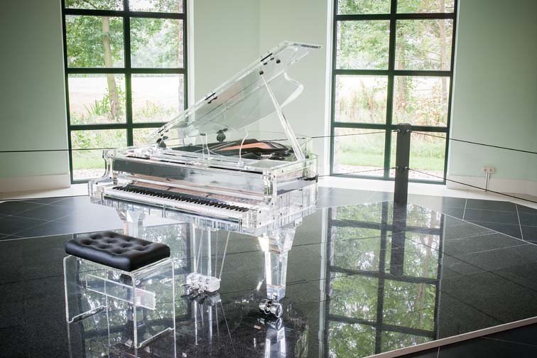 Transparent Grand Piano By Crystal Music Company The Neth