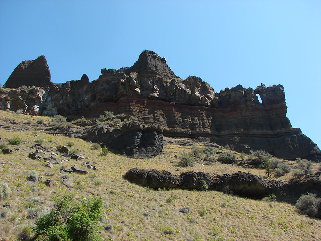 Rock fin from the Deschutes River