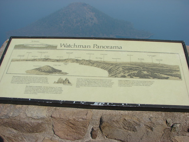 Sign near the lookout tower on The Watchman