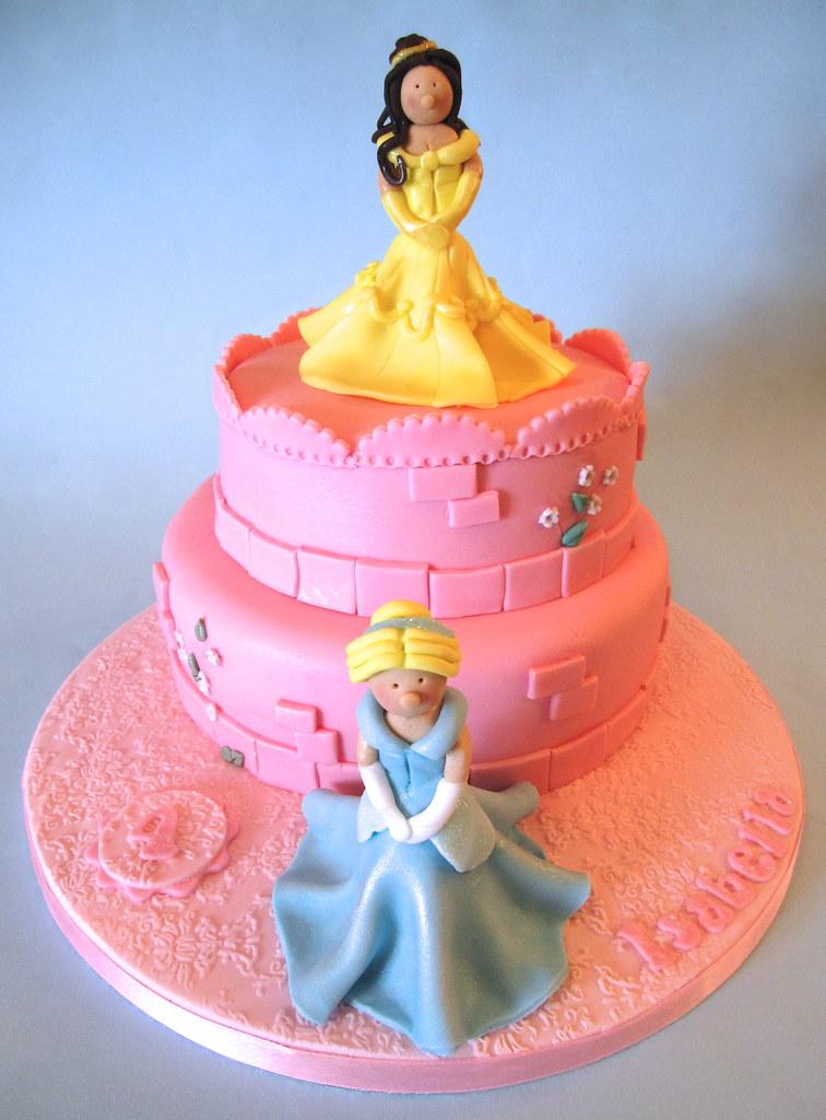 Brilliant Disney Princess Birthday Cake A Disney Princess Themed 4Th Flickr Funny Birthday Cards Online Alyptdamsfinfo