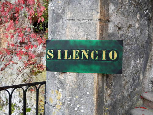 Silencio is asked for at the Covadonga shrine in northern Spain
