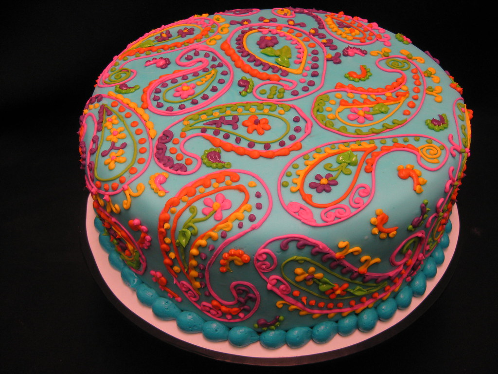 Colorful Paisley Cake Nscctx Flickr