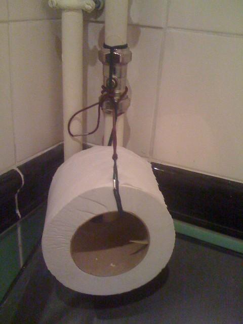 Diy toilet paper holder flickr photo sharing for Diy toilet paper storage