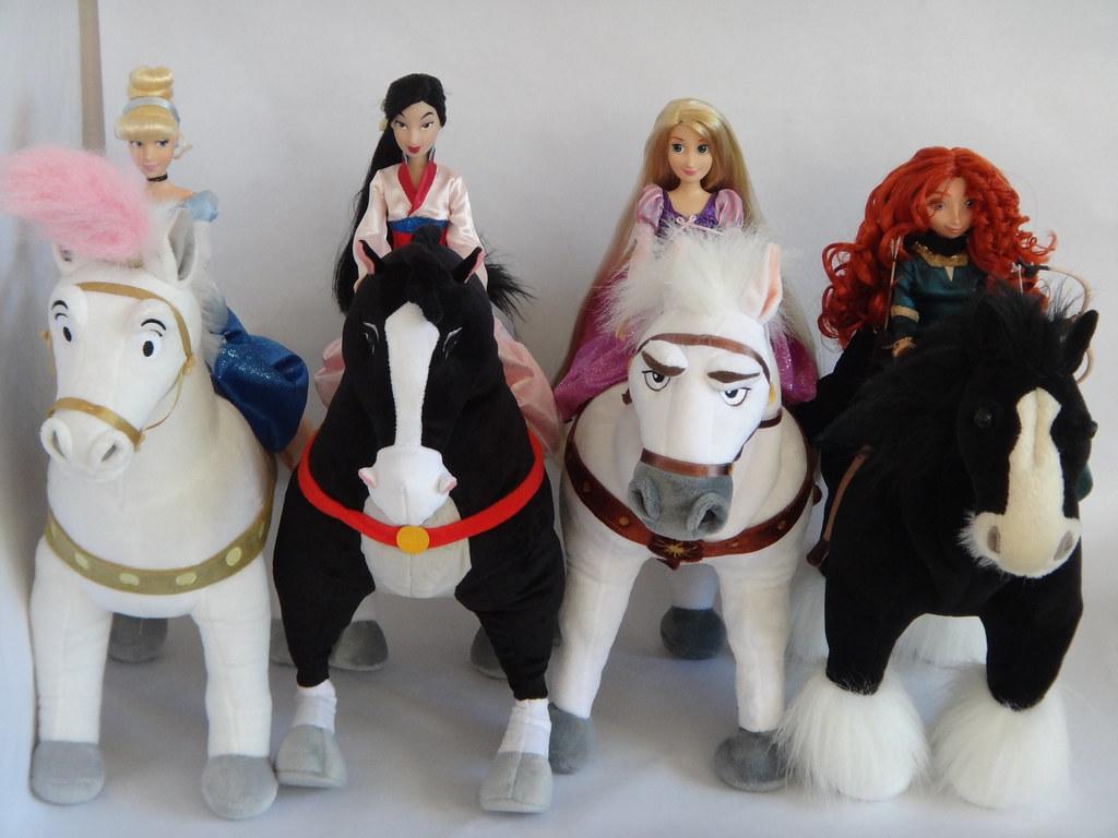 disney princess plush horses with their princesses cinde flickr