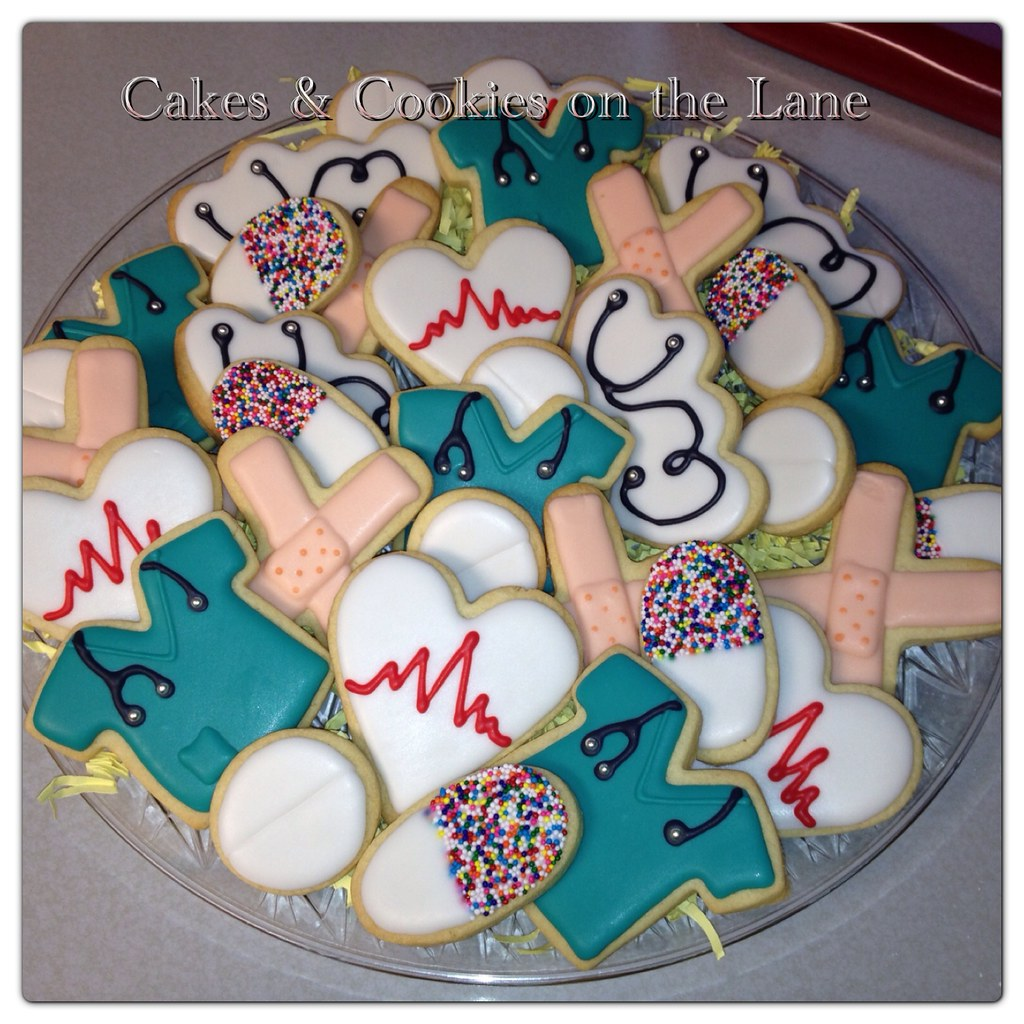 Cake Decorating Medical Theme : Medical cookies Cakes & Cookies on the Lane (Kathy Kmonk ...