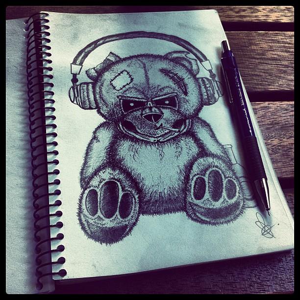 Teddy Bear Skull Drawing Not All Teddy Bears Are